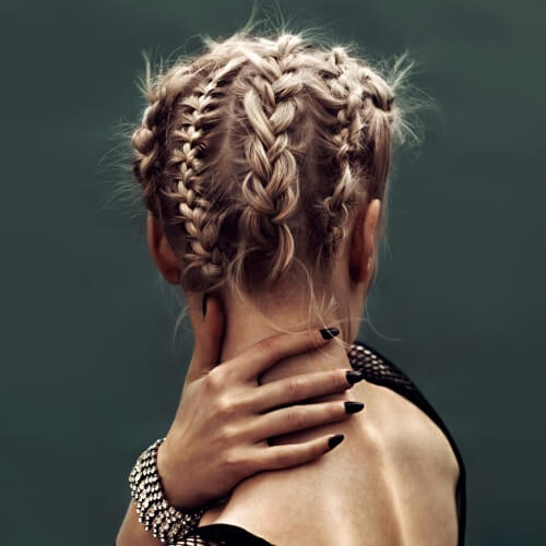Combination Reverse Braid Updo Hairstyles