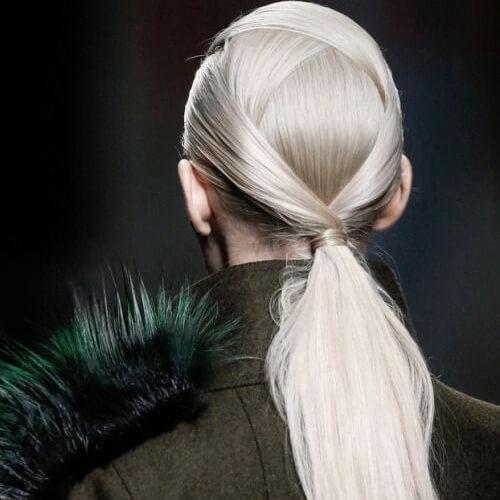 Criss-cross Haute Couture Ponytails