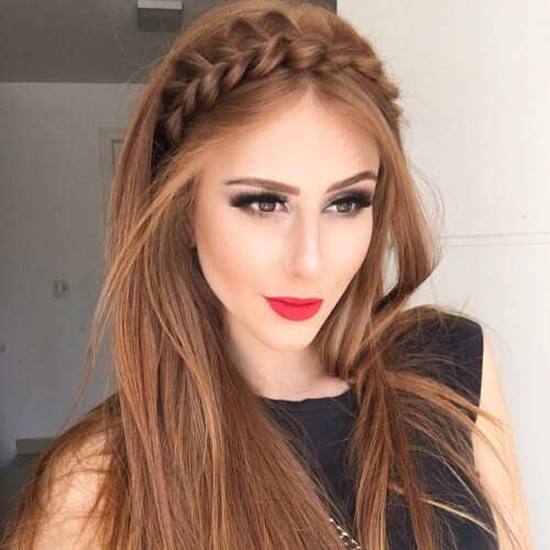 Crown Braid Straight Hairstyles