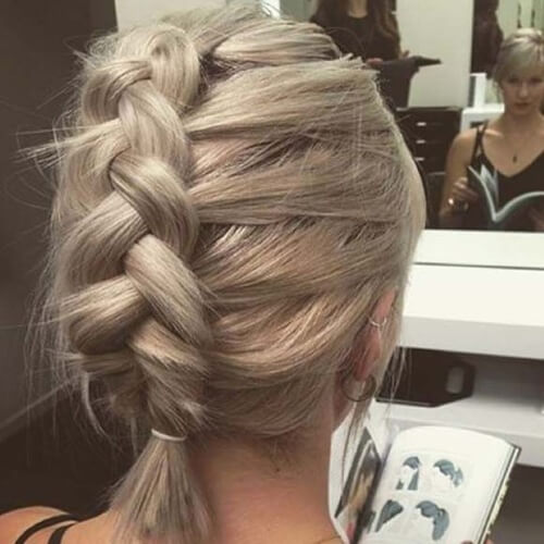 Dutch Braid Short Hair Styles