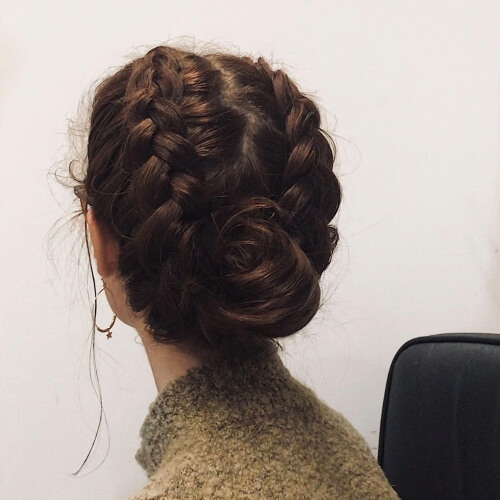 Dutch Braid Updo Roll Hairstyles
