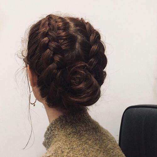 Dutch Braid Updo Roll Hairstyles