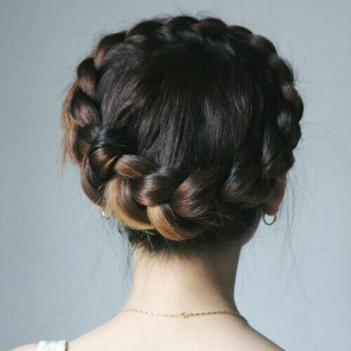 Dutch Crown Braid Hairstyles