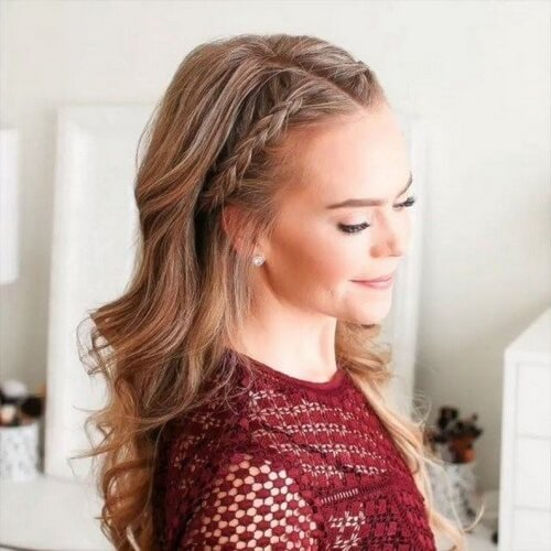 Easy Dutch Braid Hairstyles with Middle Part Headband