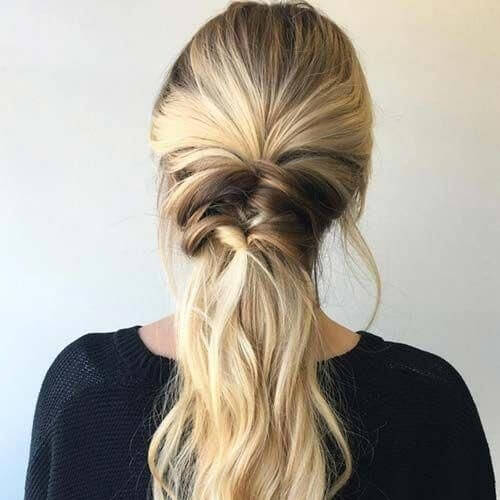 Easy Ponytail Hairstyles with Braided Transitions
