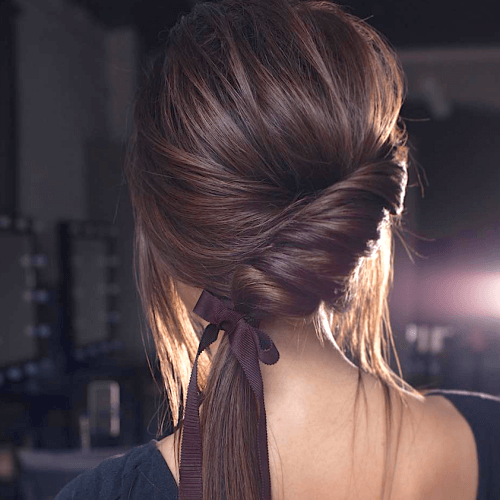 Easy Ponytail Hairstyles with Chignons