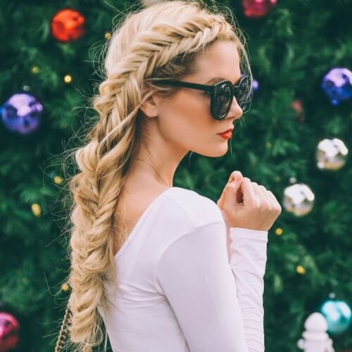 Fishtail Braid Hairstyles for Long Straight Hair