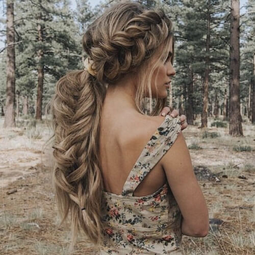 Fishtail Braided Ponytail Hairstyles