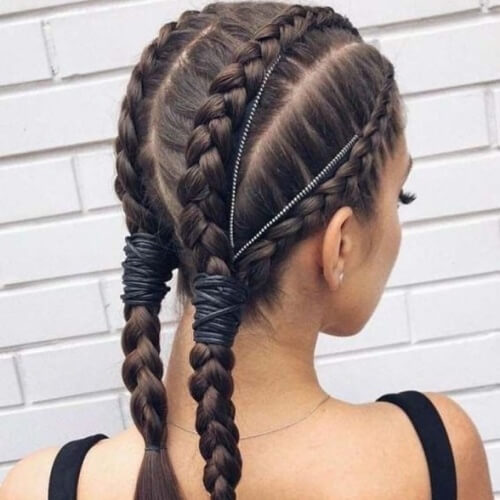 Four Dutch Braid Hairstyles for Long Hair