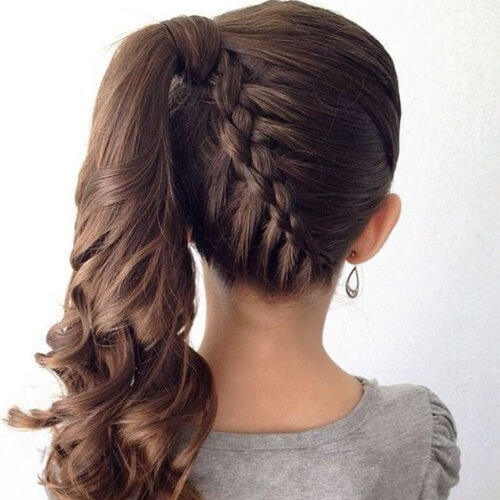 Girly Ponytail Hairstyles for Kids