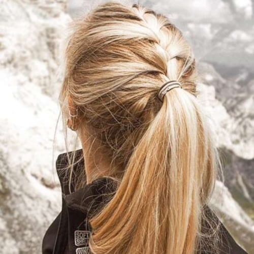 Half French Braided Ponytails