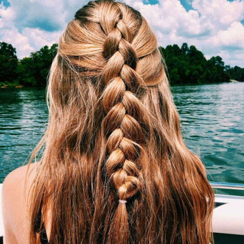 Half Up Half Down Dutch Braid Hairstyles