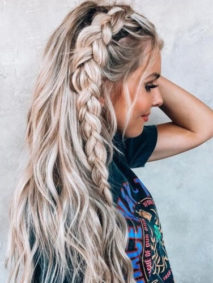 Half Up Side Dutch Braid Hairstyles