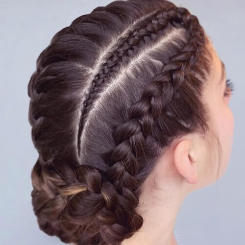 Intricate Dutch Braid Updo Hairstyles