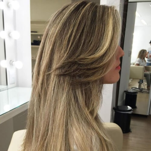Long Swept Back Bangs