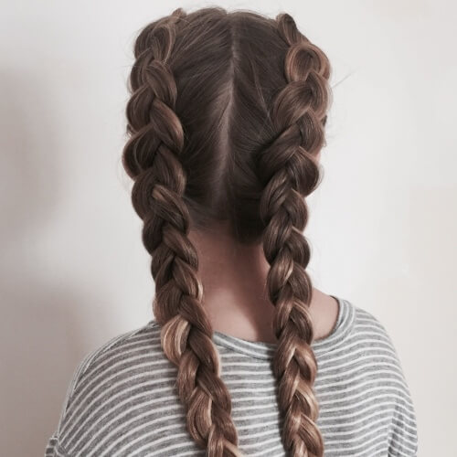 Loose Dutch Braid Pigtails