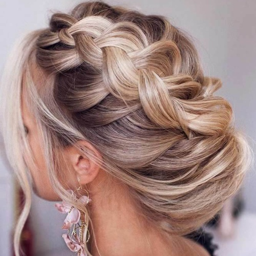 Loose Dutch Braid Updo Hairstyles