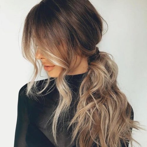 Loose Side Ponytail Hairstyles