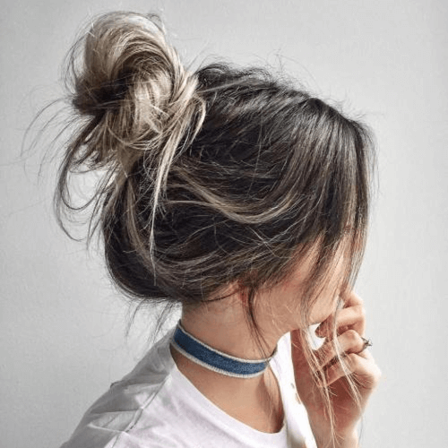 Messy Bun Straight Hairstyles