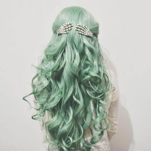 Mint Pastel Green Hair Colors