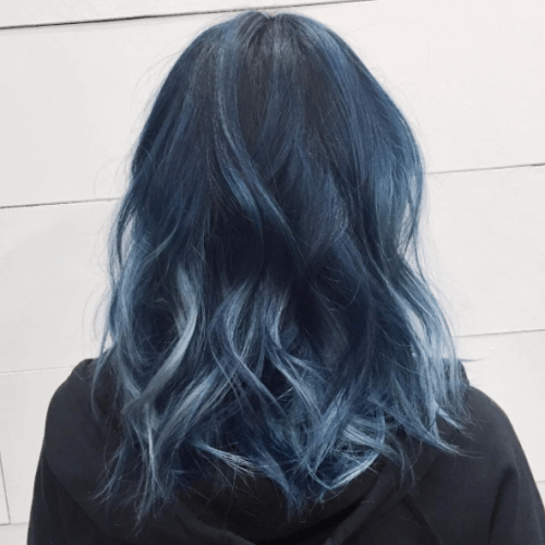 Navy Pastel Hair Colors