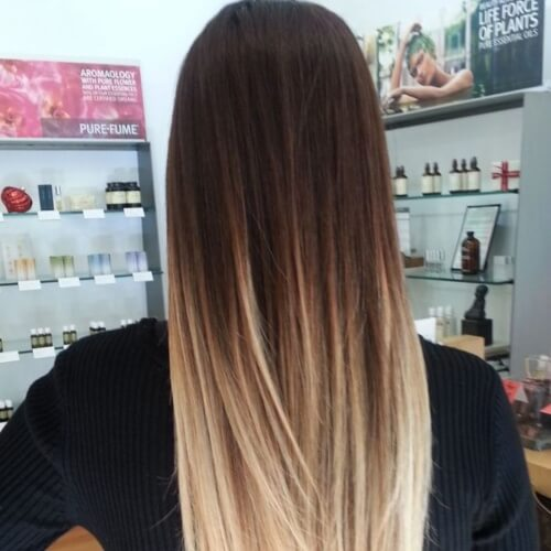 Ombre Straight Hairstyles