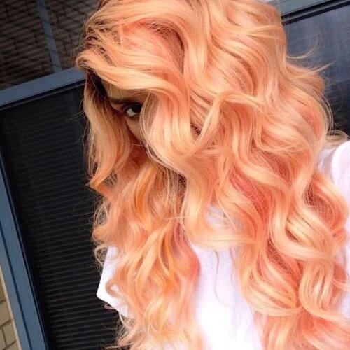 Orange Light Pastel Hair Colors