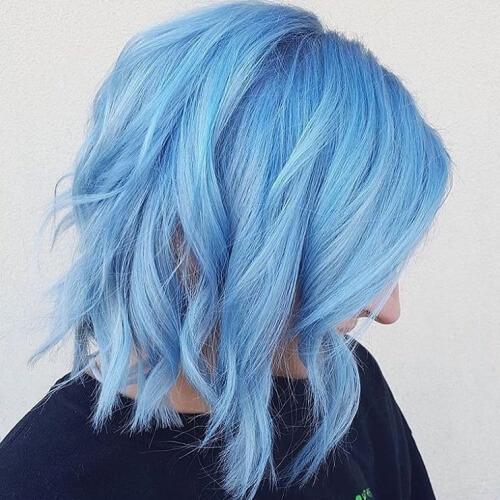 Pastel Blue Hair Colors