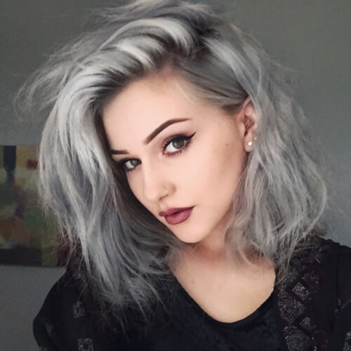 Pastel Gray Hair Color Ideas