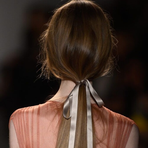 Ponytails with Ribbons