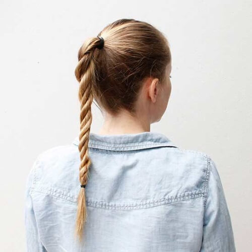 Rope Twist Ponytails