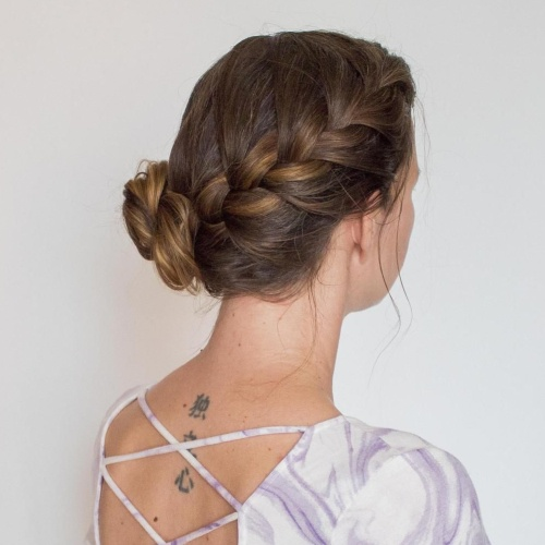 Side Braid and Bun Hairstyles