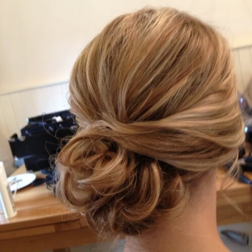 Side Bun Straight Hairstyles