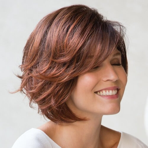 Side-Swept Bob Hairstyles with Bangs
