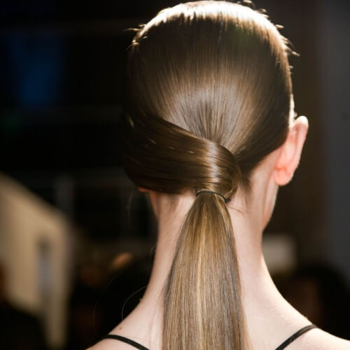 Side Wrapped Low Ponytails