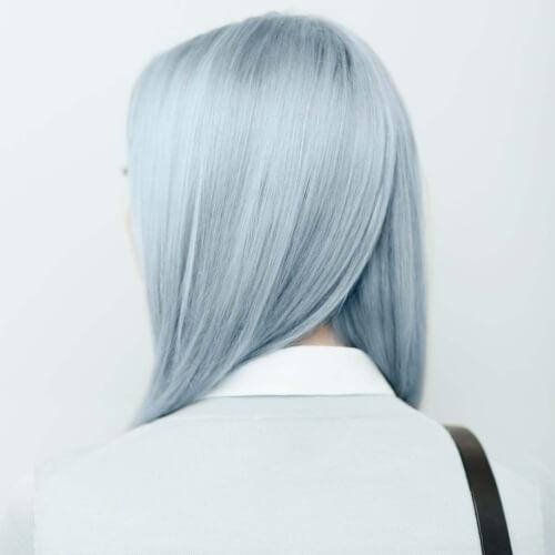 Steel Blue Pastel Hair Colors