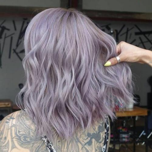 Steel Pastel Purple Hair Colors