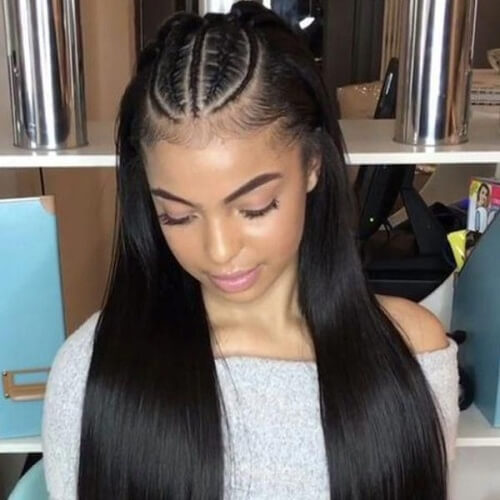 Top Cornrows Straight Hairstyles