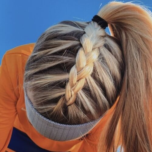 Top Section Dutch Braid Ponytail Hairstyles