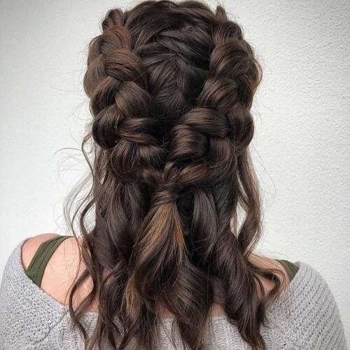 Two Dutch Braids Half Up Hairstyles