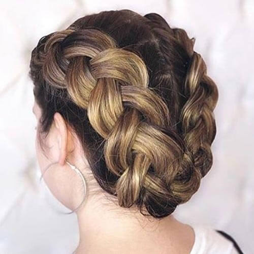 U-Shaped Dutch Crown Braid Hairstyles