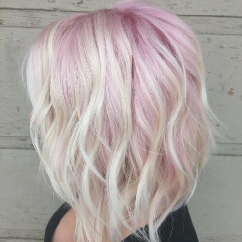 White Hair with Pastel Tint