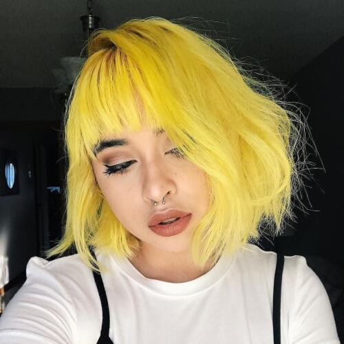 Yellow Pastel Hair Colors