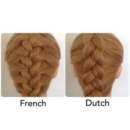 dutch vs french braid