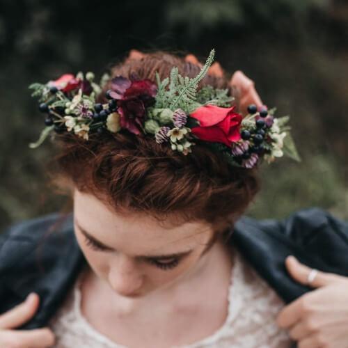 Autumn Flower Hair Accessories