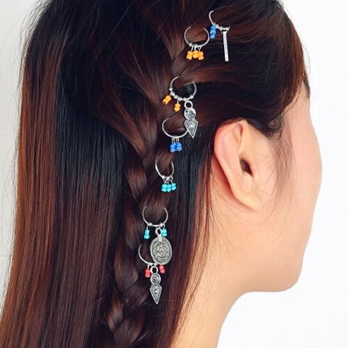 Boho Braid Rings Hair Accessories