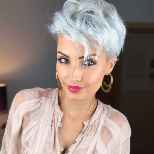 Curled Pixie Hairstyle