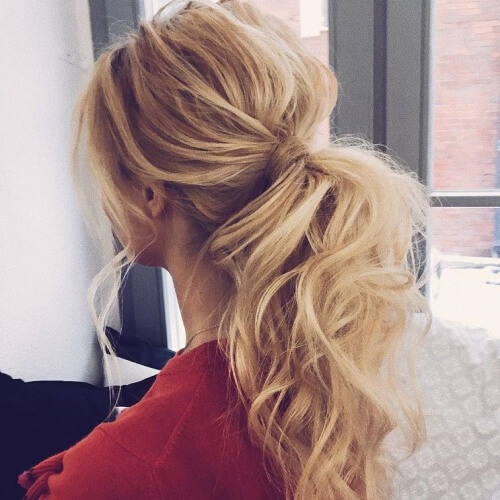 Curled Ponytail