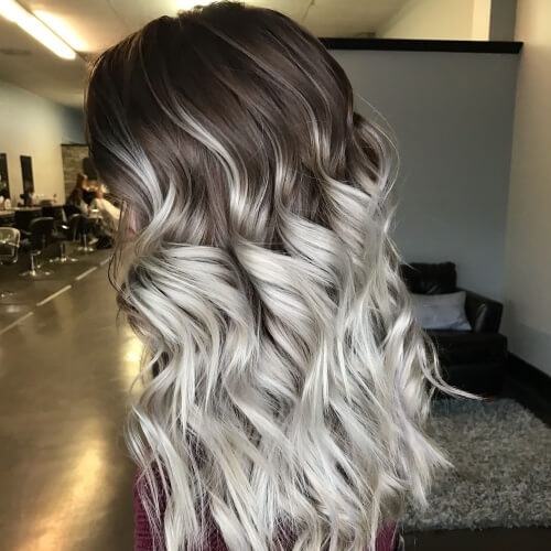 Long Dark Roots Ombre