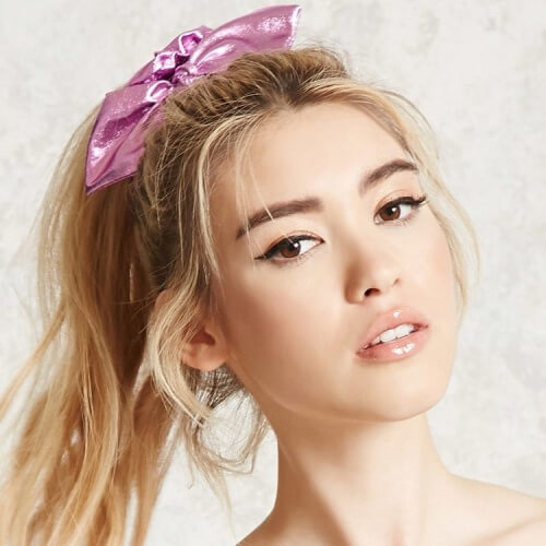 Metallic Scrunchie 80s Hair Accessories